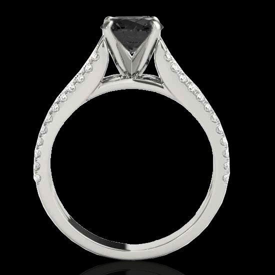 Genuine 1.45 CTW Certified Black Genuine Diamond - 2