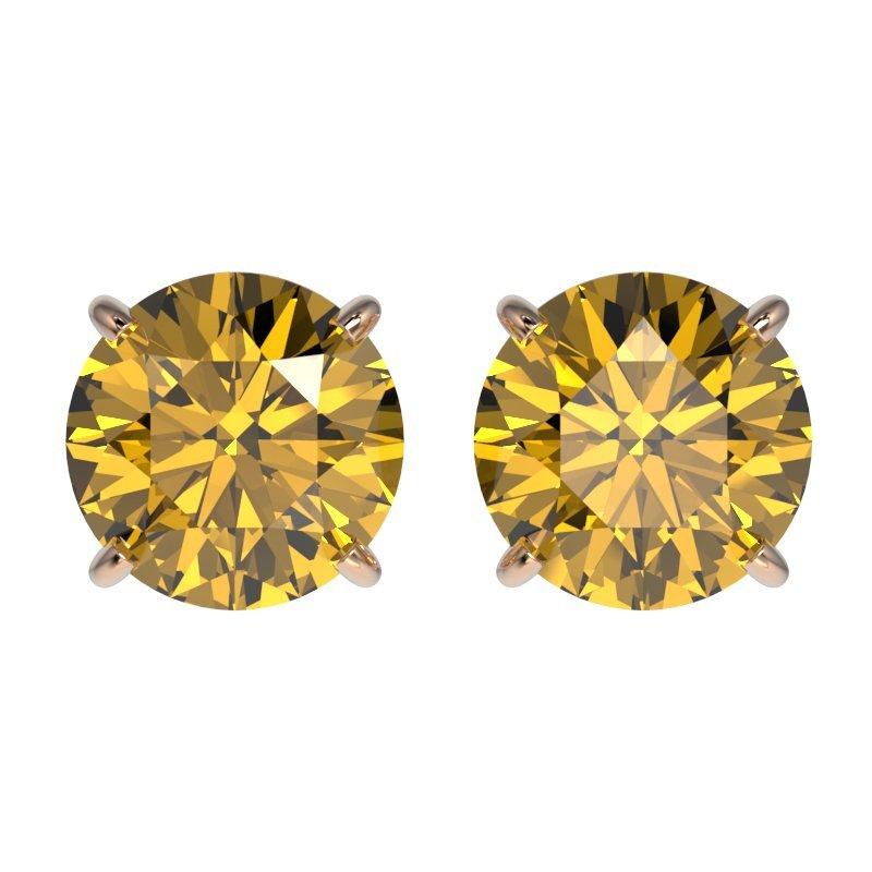 1.97 CTW Certified Intense Yellow Diamond Solitaire