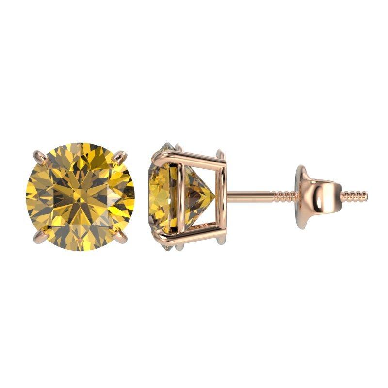 1.97 CTW Certified Intense Yellow Diamond Solitaire - 2
