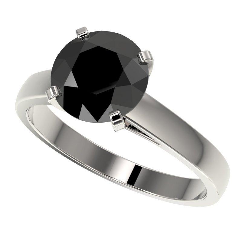 2.59 CTW Fancy Black Diamond Bridal Solitaire