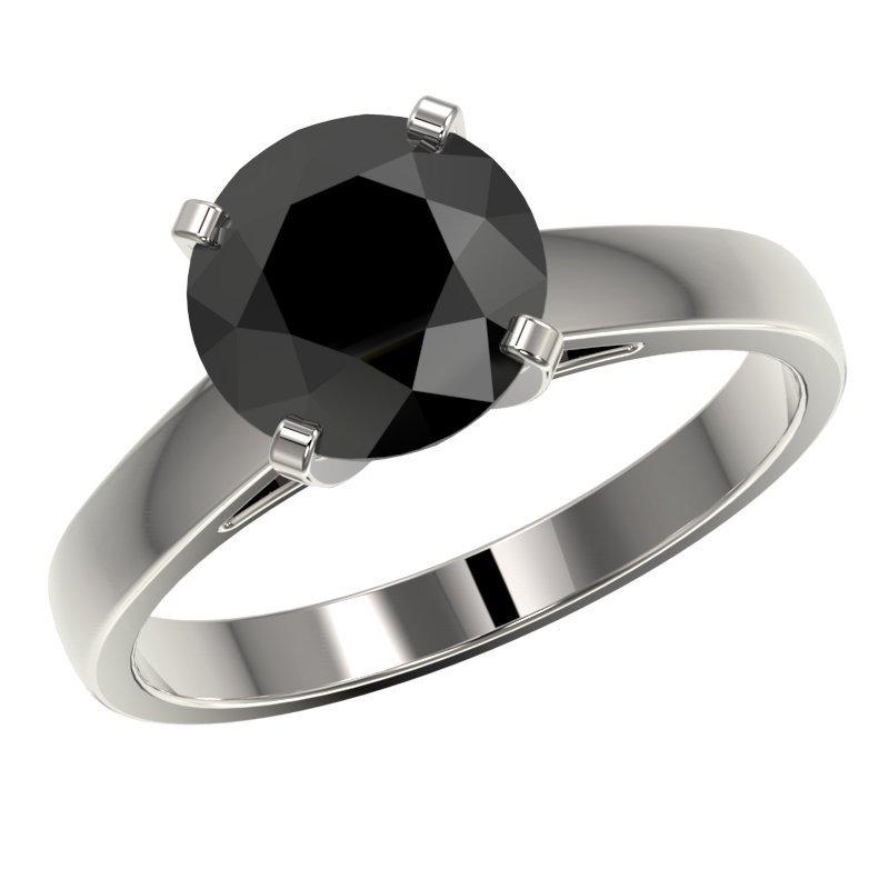 2.59 CTW Fancy Black Diamond Bridal Solitaire - 2