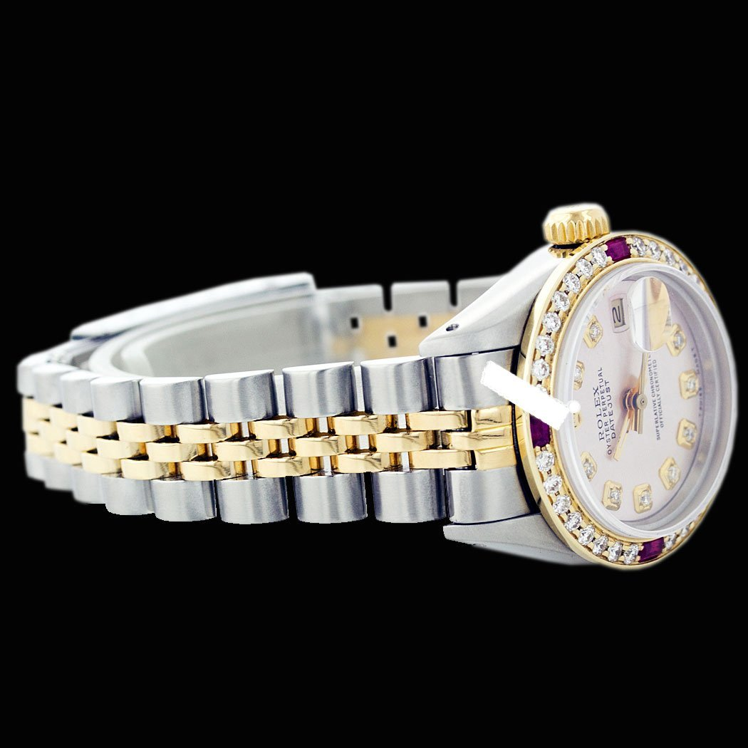 Rolex Men's 2Tone 14K Gold/ SS, QuickSet, Diam Dial & - 2
