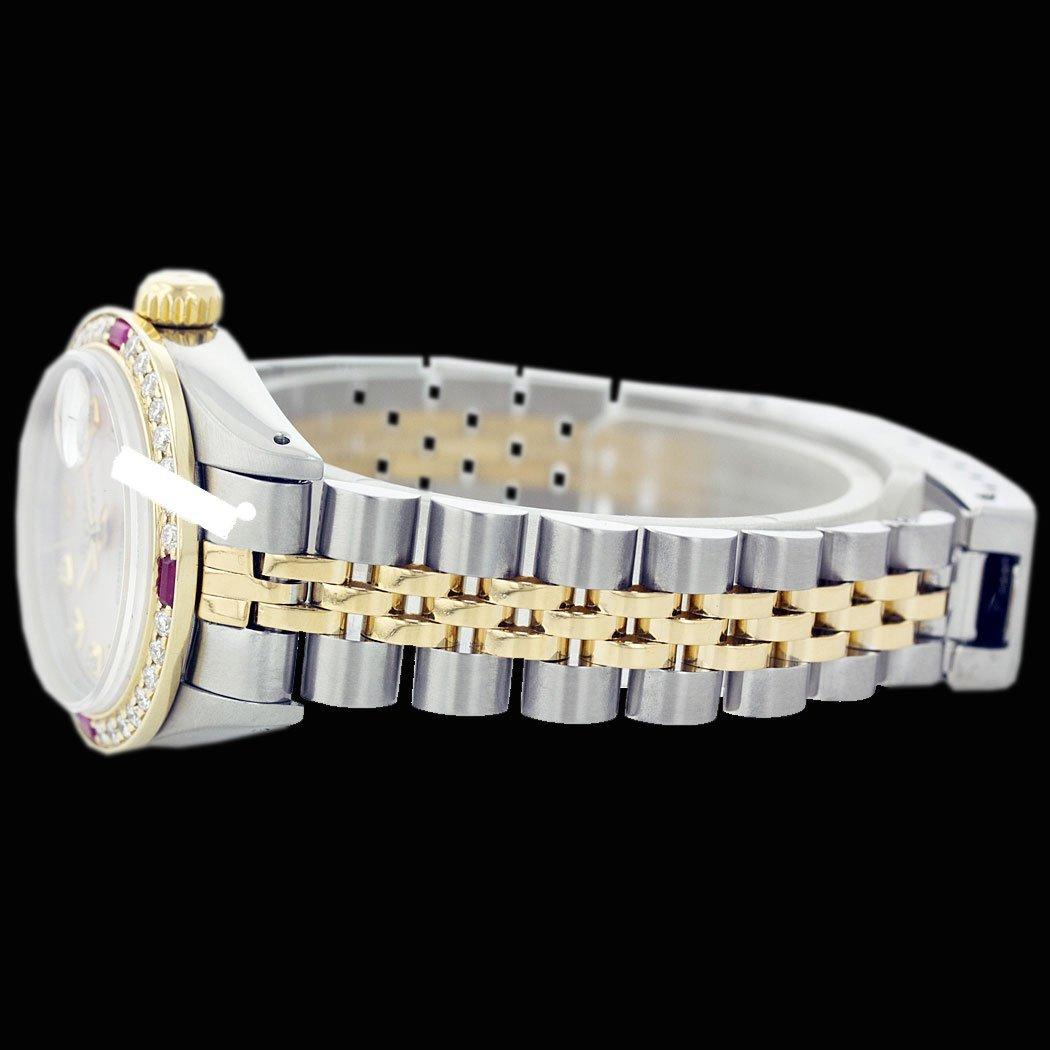Rolex Men's 2Tone 14K Gold/ SS, QuickSet, Diam Dial & - 4