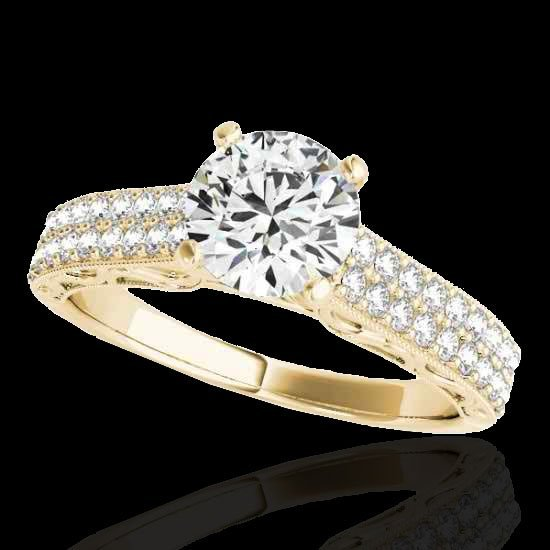 1.91 CTW Certified G-I Diamond Solitaire Bridal Ring