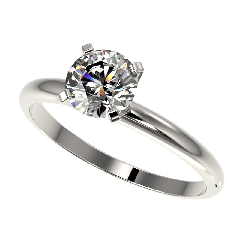 1.0 CTW Certified H-I Quality Diamond Solitaire