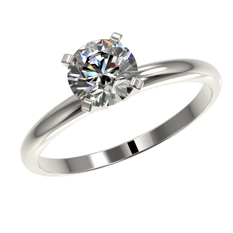 1.0 CTW Certified H-I Quality Diamond Solitaire - 2