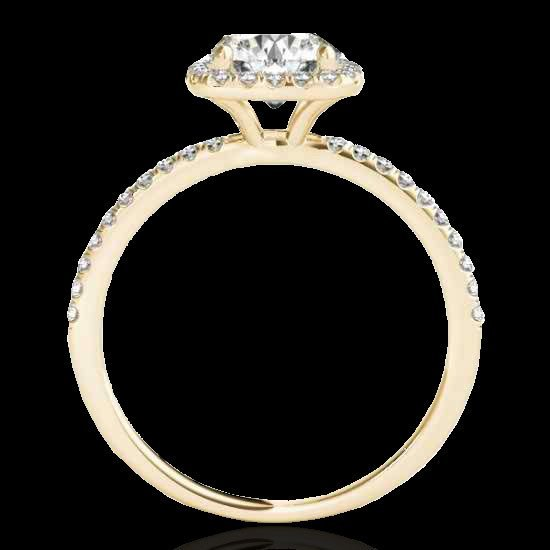 1.50 CTW Certified G-I Diamond Bridal Solitaire Halo - 2