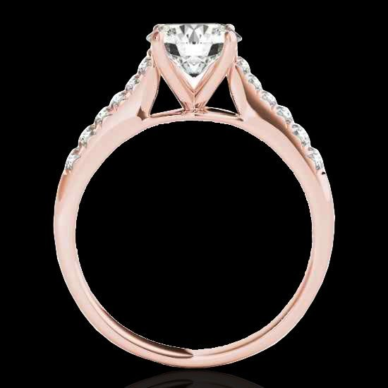 1.25 CTW Certified G-I Diamond Solitaire Bridal Ring - 2