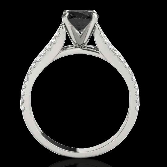 1.45 CTW Certified Black Diamond Solitaire Ring Two - 2