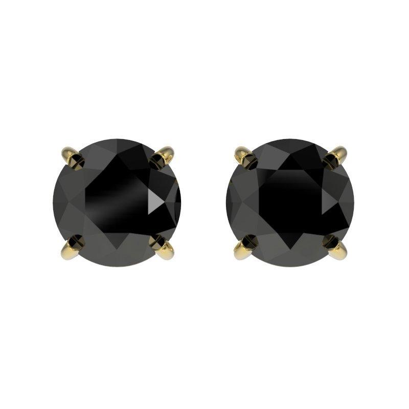 1.0 CTW Fancy Black Diamond Bridal Solitaire Stud