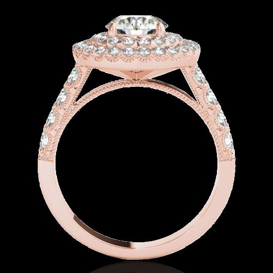 2.25 CTW Certified G-I Diamond Bridal Solitaire Halo - 2