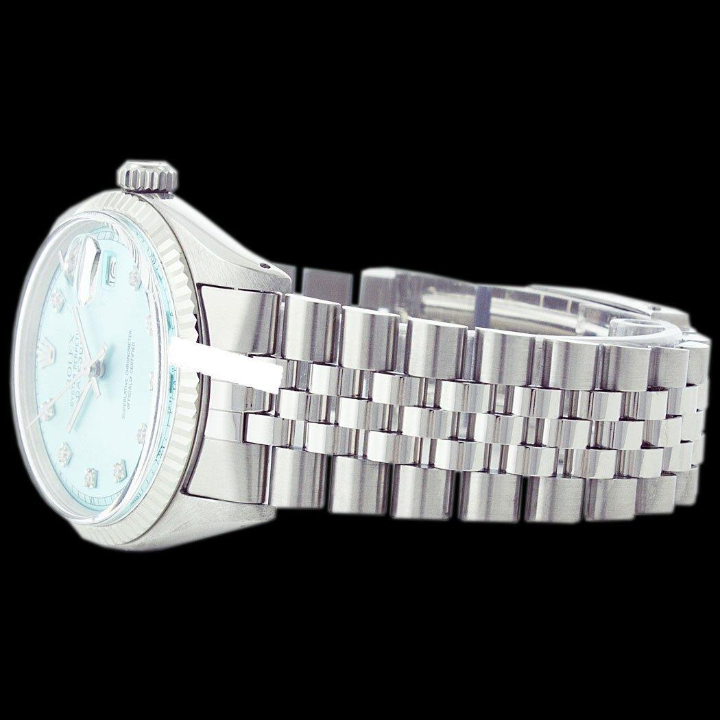 Rolex Men's Stainless Steel, QuickSet, Diamond Dial - 4