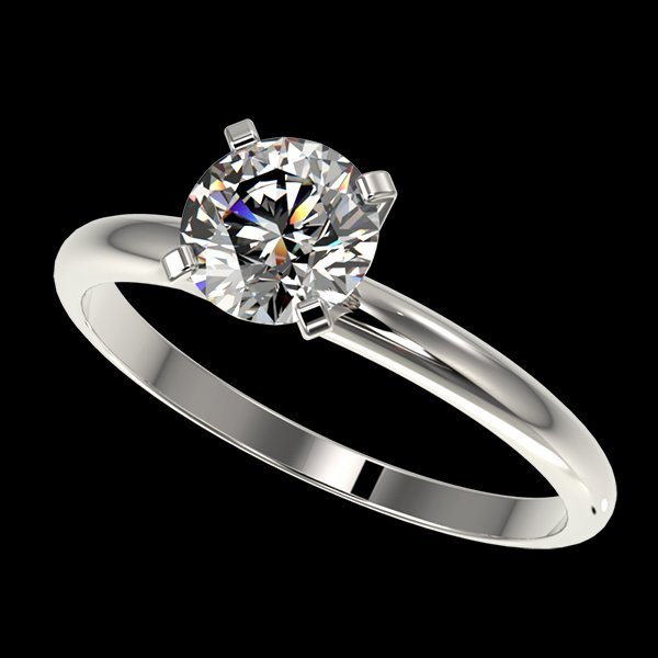 1.05 CTW Quality Diamond Solitaire Engagment Ring Gold