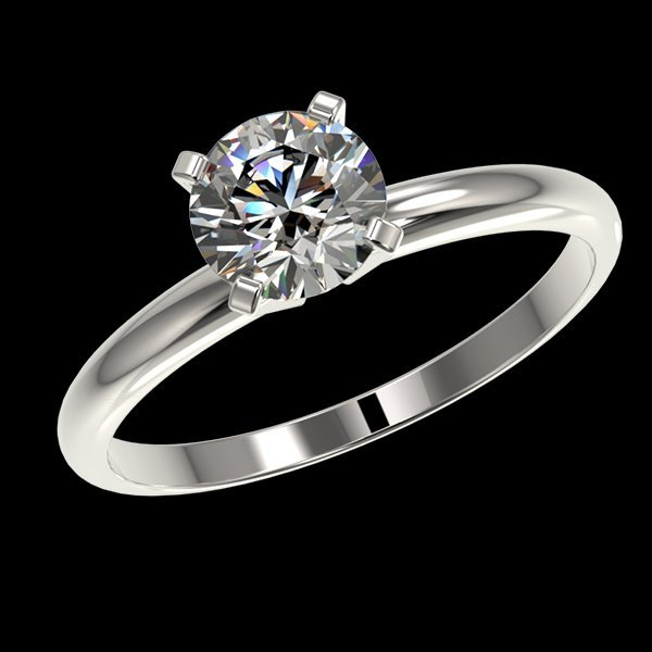 1.05 CTW Quality Diamond Solitaire Engagment Ring Gold - 2