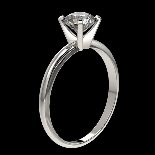 1.05 CTW Quality Diamond Solitaire Engagment Ring Gold - 3