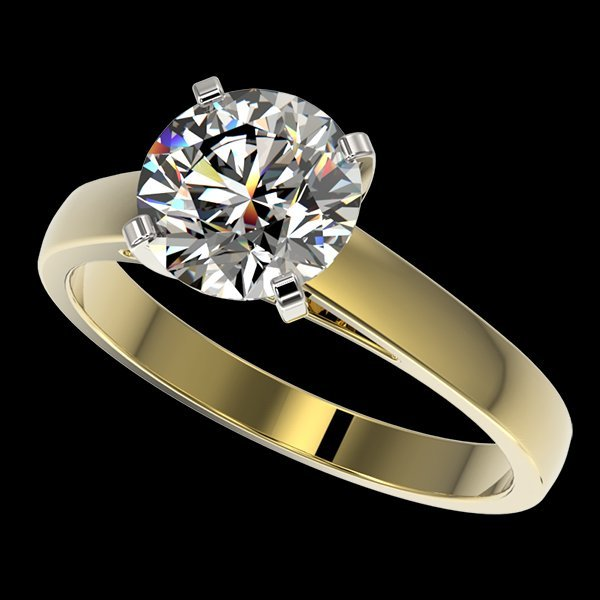 2.05 CTW Quality Diamond Solitaire Engagment Ring Gold