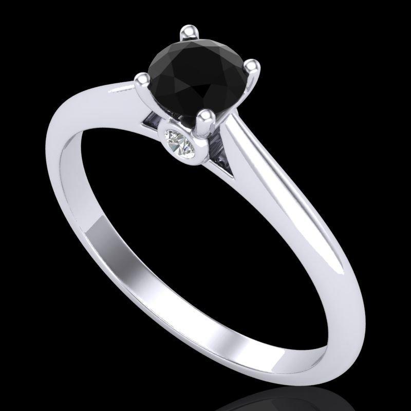 0.4 CTW Fancy Black Diamond Solitaire Engagment Art