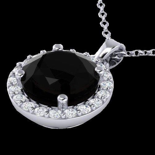 2 CTW Halo Diamond Micro Pave Necklace Solitaire 18K