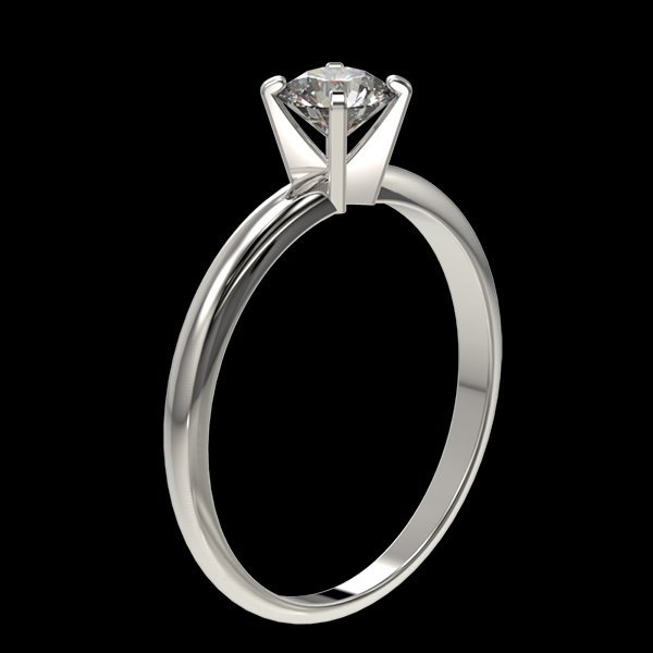 .54 CTW Quality Diamond Solitaire Engagment Ring Gold - 3