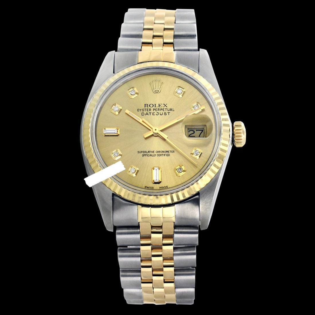 Rolex Ladies 2Tone 14K Gold/ Stainless Steel, Diamond