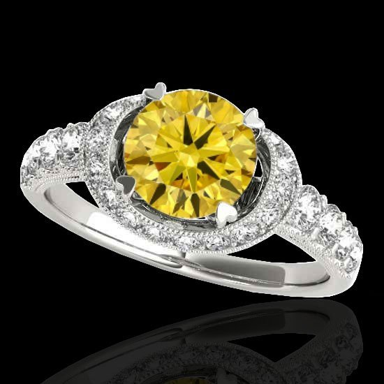 1.75 CTW Certified Si Fancy Intense Yellow Diamond