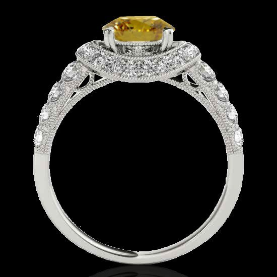 1.75 CTW Certified Si Fancy Intense Yellow Diamond - 2