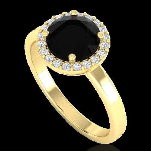 2 CTW Halo VS/SI Diamond Certified Micro Pave Ring - 2