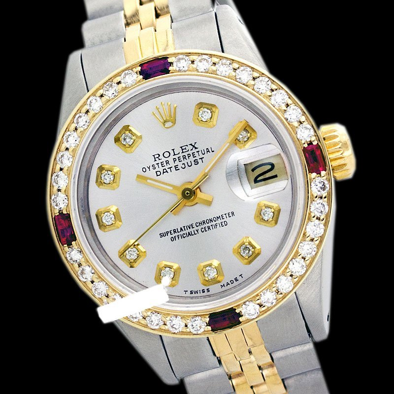 Rolex Ladies 2Tone 14K Gold/ Stainless Steel, Diam Dial