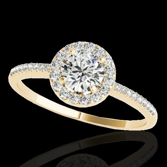 1.2 CTW G-Si Certified Diamond Bridal Solitaire Halo