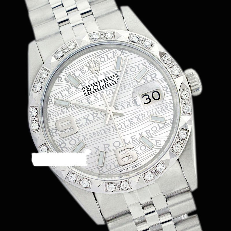 Rolex Ladies Stainless Steel, Arabic Dial Pyramid Diam