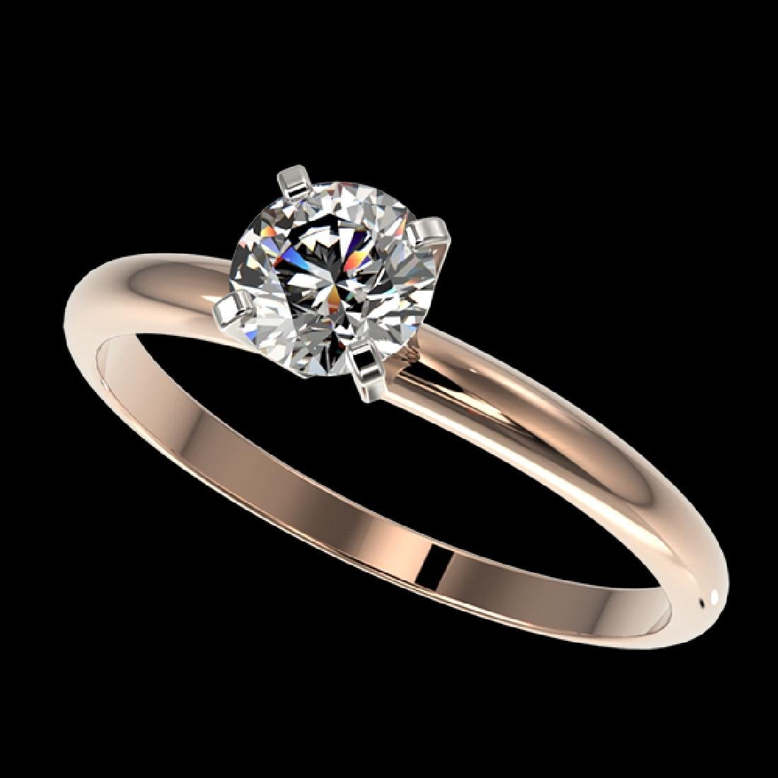 0.77 CTW Certified G-Si Quality Diamond Solitaire