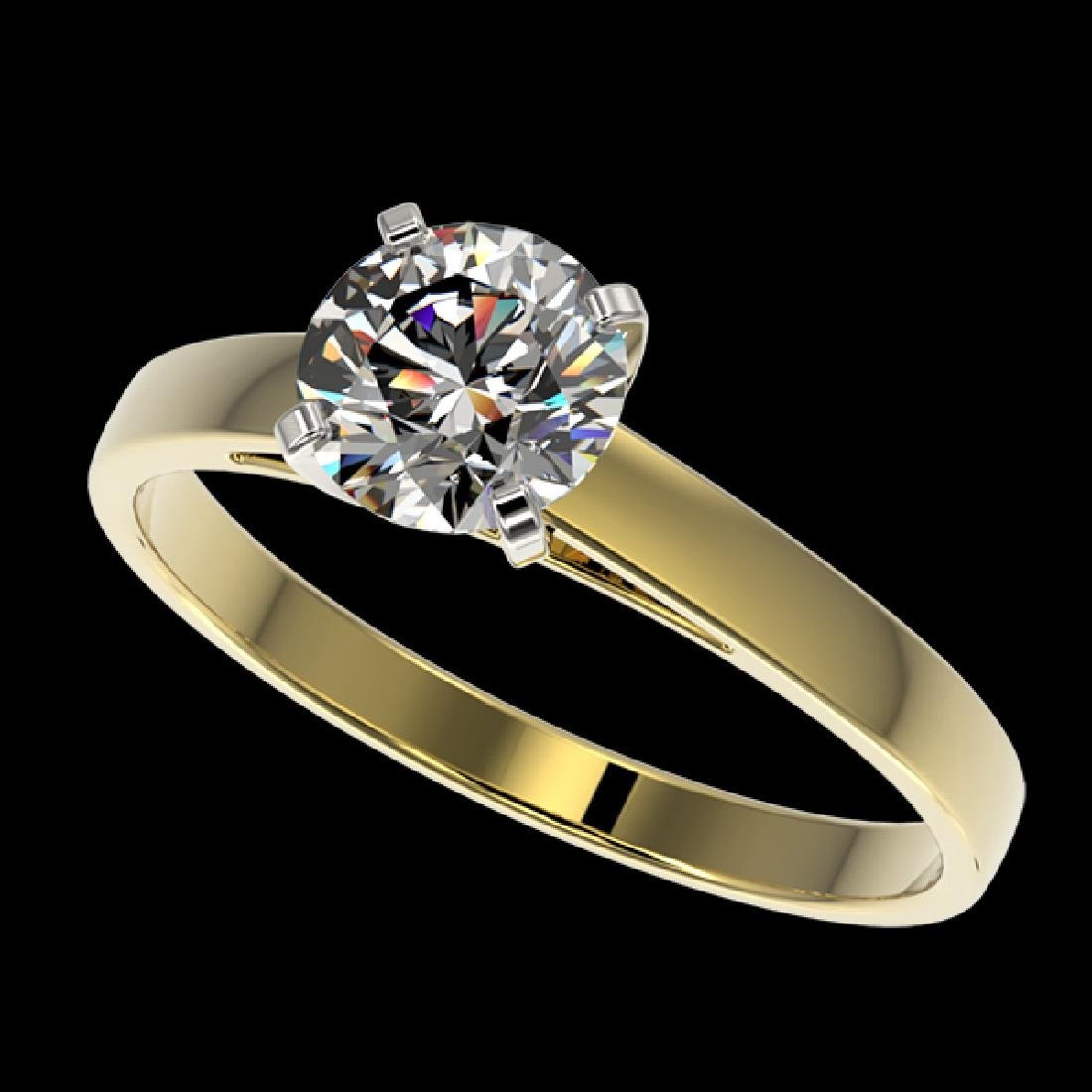 1.07 CTW Certified G-Si Quality Diamond Solitaire
