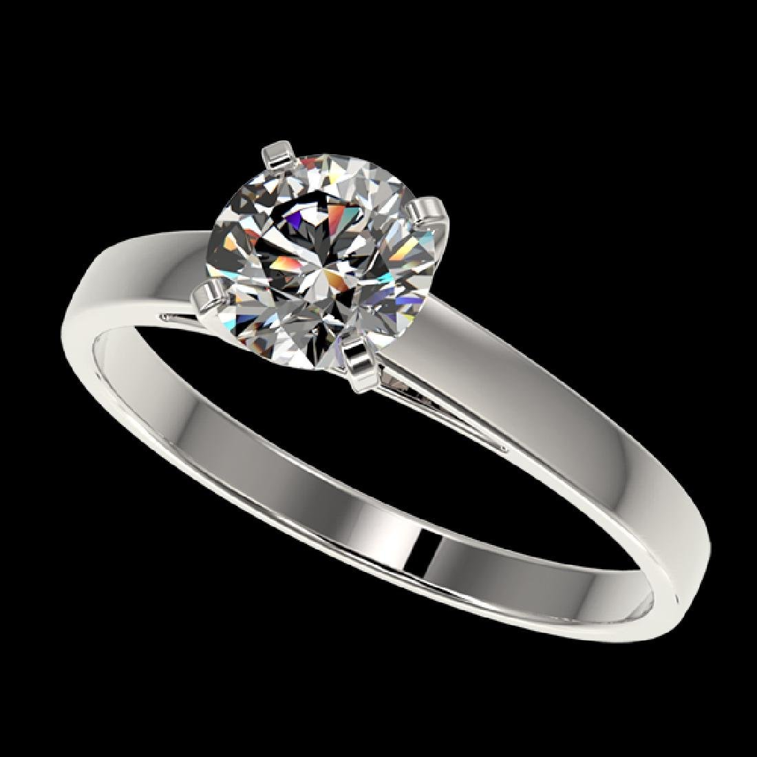 0.99 CTW Certified G-Si Quality Diamond Solitaire