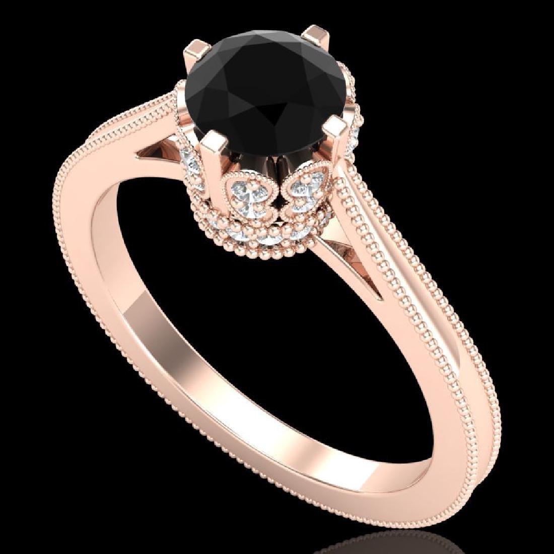 1.14 CTW Fancy Black Diamond Solitaire Engagment Art
