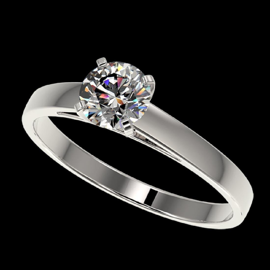 0.75 CTW Certified G-Si Quality Diamond Solitaire