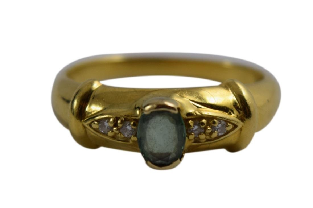 18K GOLD RARE RUSSIAN ALEXANDRITE DIAMOND RING