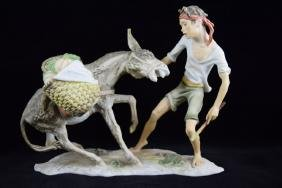 AK WEST GERMANY KAISER PORCELAIN BOY & DONKEY