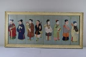DECOUPAGE CHINESE JAPANESE ASIAN ELDER FRMAED ART