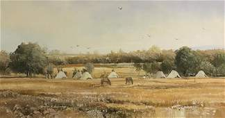 THOMAS DEDECKER (AMERICAN, B.1951) OIL ON CANVAS