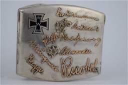 GERMAN WWI 935 SILVER & 14K GOLD CIGARETTE CASE