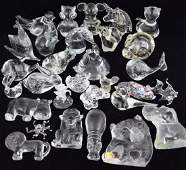 COLLECTION CRYSTAL ANIMALS GLASS FIGURINES LOT