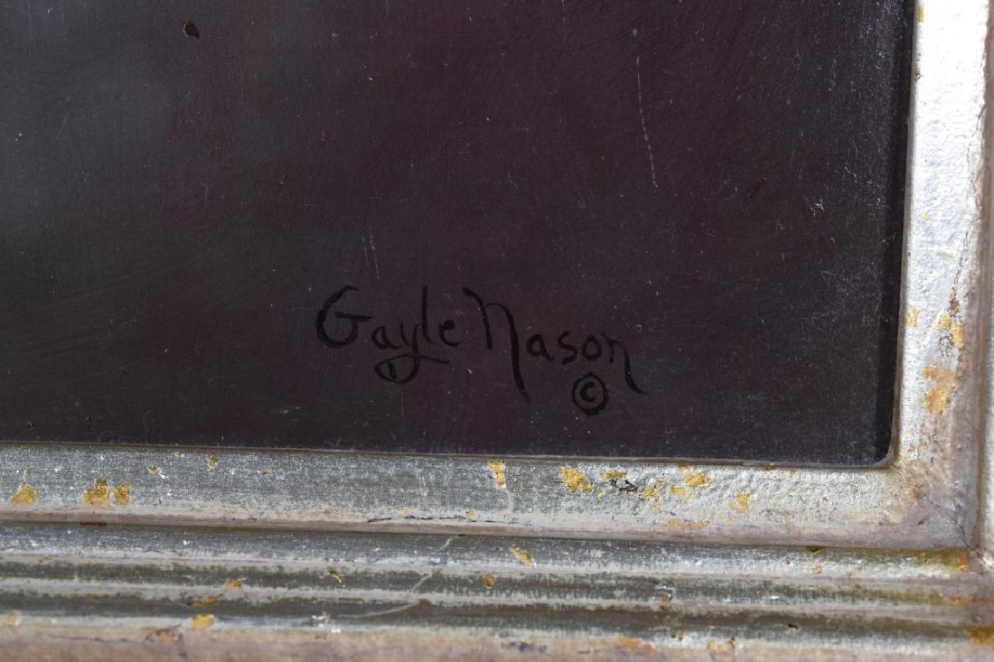 """GAYLE NASON (AMER.,20TH C.) """"APACHE & SIOUX"""" OIL - 9"""