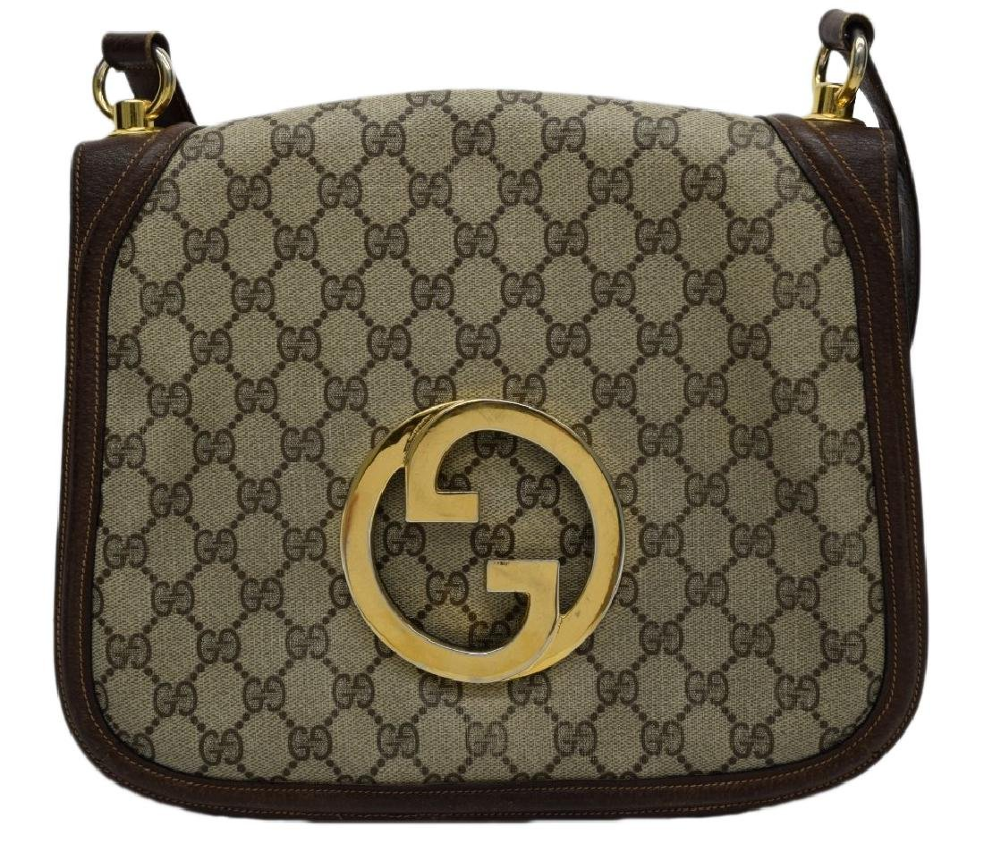 VINTAGE 1970's GUCCI GG MONOGRAM BLONDIE PURSE