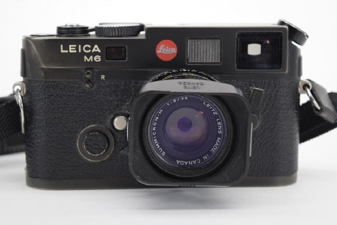 VINTAGE LEICA M6 BLACK CAMERA W/ SUMMICRON LENS