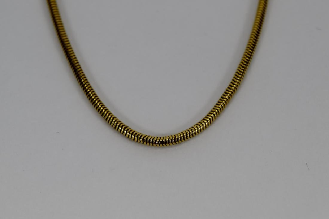14K GOLD BALESTRA ITALY SNAKE CHAIN NECKLACE