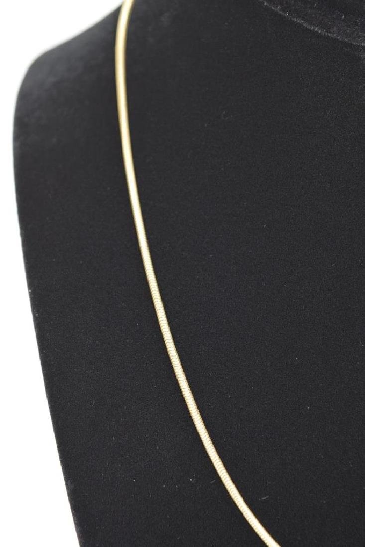 14K GOLD BALESTRA ITALY SNAKE CHAIN NECKLACE - 3