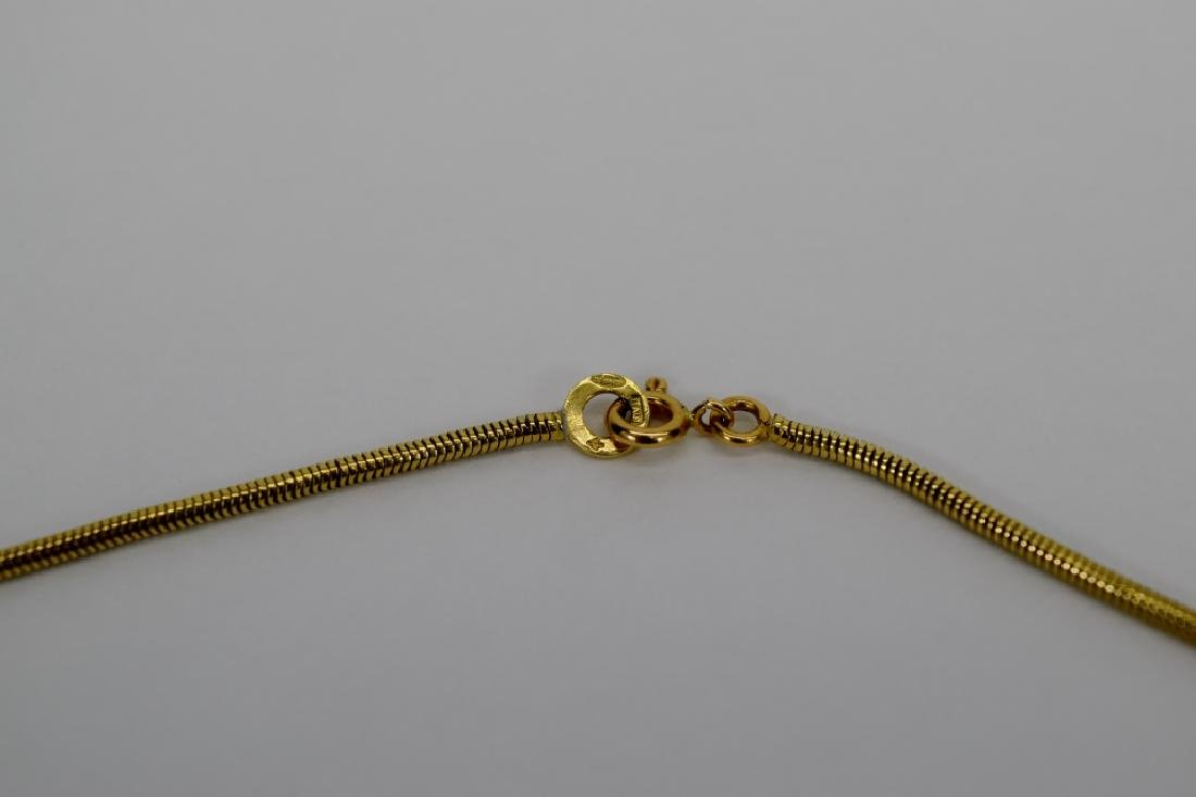 14K GOLD BALESTRA ITALY SNAKE CHAIN NECKLACE - 5
