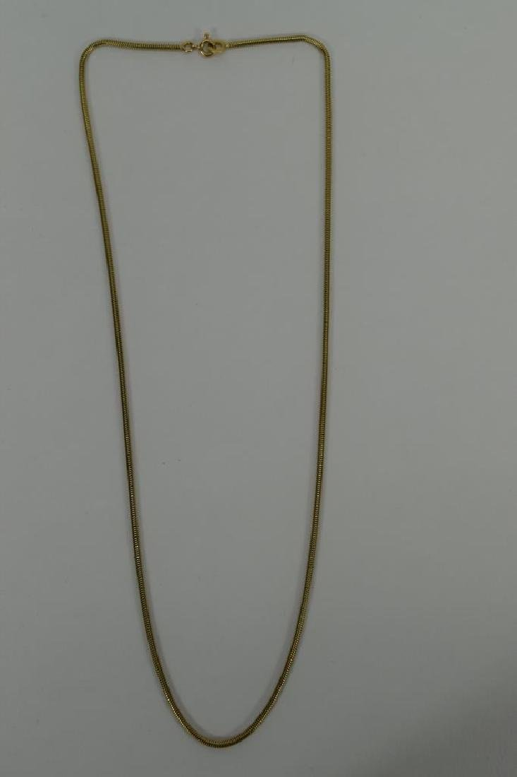 14K GOLD BALESTRA ITALY SNAKE CHAIN NECKLACE - 6