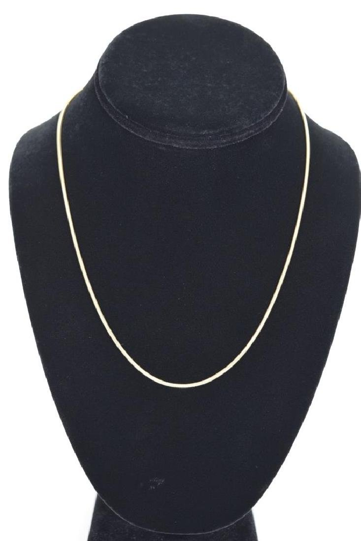 14K GOLD BALESTRA ITALY SNAKE CHAIN NECKLACE - 7