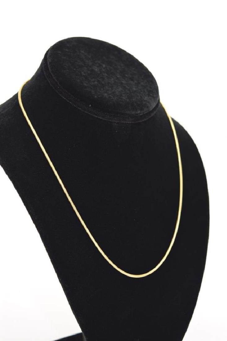 14K GOLD BALESTRA ITALY SNAKE CHAIN NECKLACE - 8